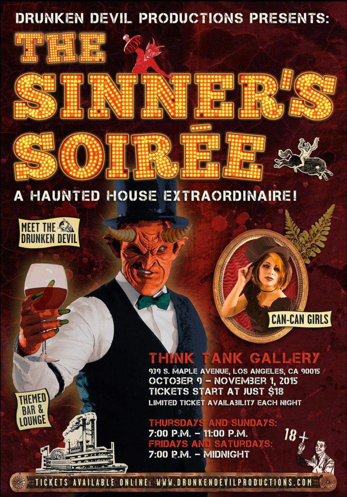 Sinners Soiree Poster